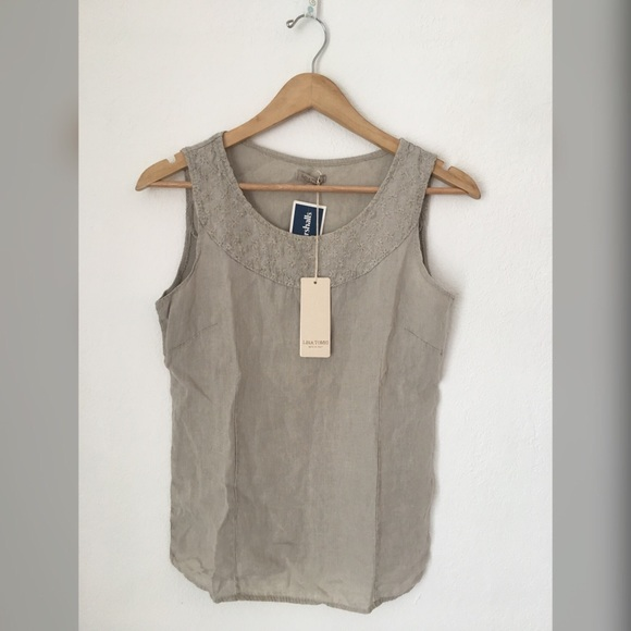 4395079a50 Lina Tomei Pure Linen Blouse - made in Italy